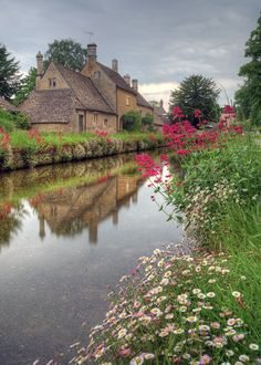 The River Eye at Lower Slaughter in Gloucestershire.