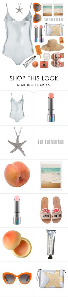 """Metallic Summer 🌞"" by karineminzonwilson ❤ liked on Polyvore featuring Topshop, MAC Cosmetics, Maison Margiela, Pavilion Broadway, Dot & Bo, Kate Spade, Tony Moly, L:A Bruket, Dolce&Gabbana and N°21"