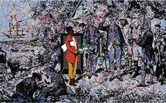 Possession Island, Born in Queensland in Gordon Bennett is an Aboriginal allegorical painter, mostly in oil. He studied at Queensland College of Fine Art Australian Painters, Australian Artists, African American Artist, American Artists, Fine Arts College, Gallery Of Modern Art, Aboriginal Artists, Desert Art, Indigenous Art