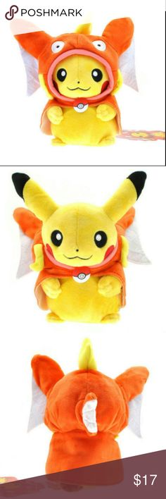 NWT COSPLAY PIKACHU W/Keychain+GIFT see 4th pic Very cool Collector's item, Pikachu Cosplay dress up plush as Magicarp pokemon Comes with a nice gold long keychain. Total sizes about 8 inches. Comes new with tags  Also adding a free gold Collectible Banknote. See 4th (last) pic Accessories