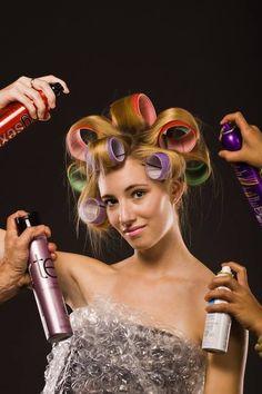Coffee and Curlers Hair Curlers Rollers, Hot Rollers, Wet Set, Hairspray, Curled Hairstyles, Her Hair, Curls, Hair Beauty, Hair Styles