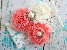 Garter / Wedding Coral Garter / Bridal by CutieButtsBoutique, $24.99