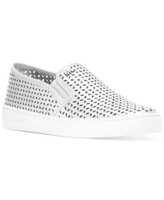 afcc5d103 MICHAEL Michael Kors Olivia Perforated Slip-On Sneakers & Reviews -  Athletic Shoes & Sneakers - Shoes - Macy's
