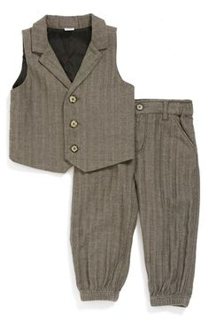 Nordstrom Baby Herringbone Vest & Pants (Baby Boys) available at #Nordstrom
