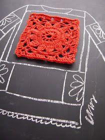 omⒶ KOPPA: crochet pattern for crochet Crochet Beret Pattern, Crochet Cardigan, Crochet Motif, Crochet Stitches, Knit Crochet, Crochet Patterns, Crochet Flower Squares, Crochet Granny, Filet Crochet
