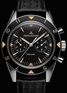 Watches Ideas Jaeger-LeCoultre – Deep Sea Vintage Chronograph Discovred by : Todd Snyder Modern Watches, Fine Watches, Luxury Watches For Men, Sport Watches, Vintage Watches, Cool Watches, Men's Watches, Jeager Le Coultre, Jaeger Lecoultre Watches