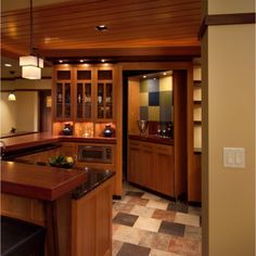 Who would ever suspect a hidden room off of the kitchen? No one! Secret Passages & Hidden Spaces Blog By Design Connection Inc. | Kansas City Interior Design http://designconnectioninc.com/blog/ #SecretPassage #HiddenRoom #InteriorDesign
