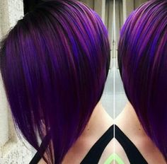 * Purple-Blue Fusion: Formulas & SBS By Sydniiee Oliverira at Looks Salon in Visalia, CA