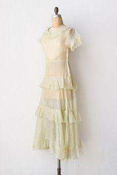 vintage 1930s sheer floral dress - 20&-39-s &amp- 30&-39-s - Pinterest - Day ...