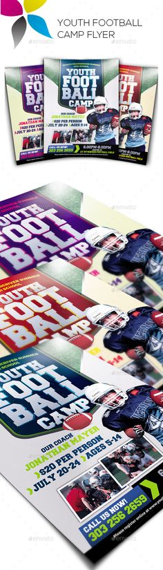 Youth Football Camp Postcard Font Logo Adobe And Fonts