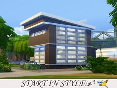 Start in Style lot 5 by Evi at TSR via Sims 4 Updates