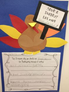 Of course turkeys would be on strike this time of year! My little ones made these adorable turkey...