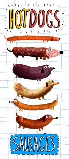 Dachshund Parade Illustrations - kathryndurst: a silly thing i made