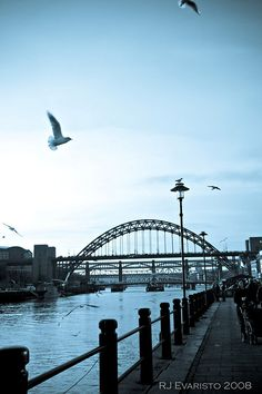 Newcastle upon Tyne, England.   This bridge is a mini Sydney Harbour Bridge.