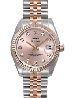 Rolex Datejust Rose Diamond Dial Jubilee Bracelet Two Tone Unisex Watch 178271RDJ 31mm 10,396