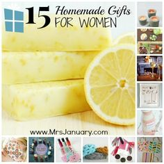 Looking for some homemade gift ideas for the women in your life? Look no further! This post shares 15 unique ideas for DIY gifts - check it out!