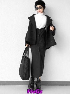Women S Fashion Dresses Online Source by fairyofthedeath dress hijab Korea Fashion, Japan Fashion, Look Fashion, Fashion Outfits, Womens Fashion, Fashion Hats, Minimal Fashion, Dr. Martens, Aesthetic Clothes