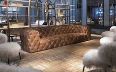 Baxter Furniture, Kitchen Furniture, Leather Sofa,