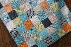 Beach Surfer Baby Boy Quilt Toddler Navy Green by JennyMsQuilts, $125.00