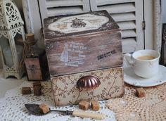 """Кухня ручной работы. Чайный кофейный комод """"Ваниль и шоколад"""" декупаж. Юлия Шилоносова. Ярмарка Мастеров. Для кофе"""
