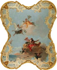 The Athenaeum - Virtue and Nobility Crowning Love (Giovanni Battista Tiepolo - )