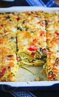 Healthy Bacon Egg Potato Breakfast Casserole Recipe ~ http://jeanetteshealthyliving.com