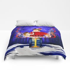 10th Doctor Who celebrate christmas COMFORTERS #comforters #bedroom #room #home #homedecor #duvetcovers #christmas #newyearfireworks #neonlights #tardis #doctorwho #thedoctor #doctorwho #nerd #geek #funny #cool #tardis #nerdy #geeky #cover #time #vortex #timelord #badwolf #nerds #fandom #drwho #whotimetravel #british #gallifrey #gallifrean #bluebox #publiccallbox #10thdoctor #tenthdoctor #davidtennant #bluephonebox