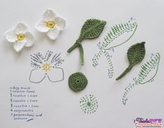 Watch The Video Splendid Crochet a Puff Flower Ideas. Wonderful Crochet a Puff Flower Ideas. Crochet Diy, Art Au Crochet, Crochet Puff Flower, Crochet Brooch, Crochet Gratis, Crochet Leaves, Knitted Flowers, Crochet Flower Patterns, Flower Applique
