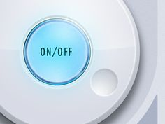 Illuminated on/off button by Brian Potstra