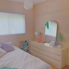HARAJUKU MORNING, light pink with a hint of peach paint color by Backdrop. Room Design Bedroom, Bedroom Colors, Bedroom Decor, Bedroom Ideas, Cute Apartment, Aesthetic Rooms, Fashion Room, New Room, Home Interior Design