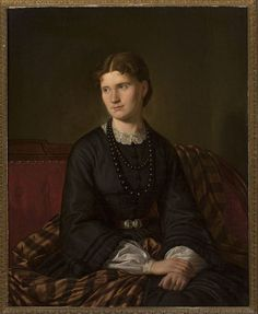 Aleksander Lesser - Portrait of the Artist's Wife | da irinaraquel