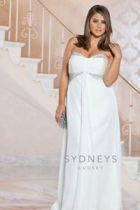 Gorgeous plus size wedding dress - $378