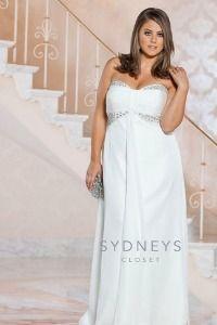 Gorgeous plus size wedding dress - $378