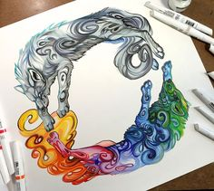 Wild Animal Spirits In Pencil And Marker Illustrations By Katy Lipscomb (Interview)   Bored Panda