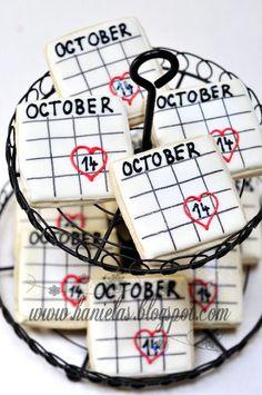 Bridal Shower Calendar Cookies or send cookies as save the date!