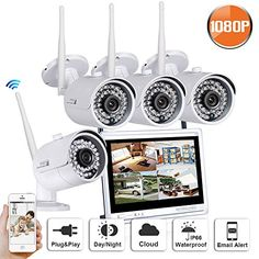 SW SWINWAY 1080P High Definition Wireless Smart Outdoor Indoor Home Video Security Camera System 4 Channel 12inch Monitor WiFi NVR Not Include Hard Drive Review http://ift.tt/2oGXAcQ