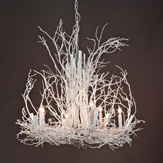 Naturally Superior Painted Twig Chandelier