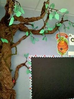 Make the tree w/ leaves for the reading area... add an apple w/ each student's name on it during the first week of school. Kids can take their apples home at the end of the year