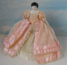 Antique German China Doll with Beautiful Dress. 8 by Cosasraras