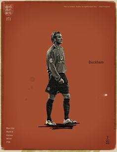 Famous Footballers by Jon Rogers, via Behance  #soccer #poster #beckham