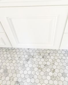 White Marble Hexagon Tile With Grout Carrera Marble Hexagon Floor - Discount hex tile