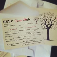 mad libs rsvp cards