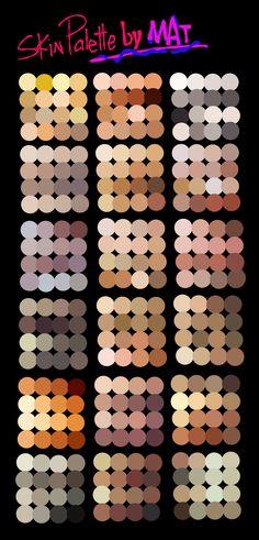 Skin Palette for MyPaint by MeryAlisonThompson.deviantart.com on @DeviantArt