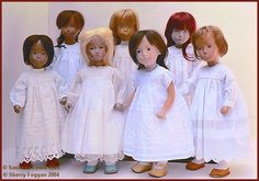Original Sasha Studio Dolls.  All the dresses were made by Sherry Foggan from antique fabrics and lace.