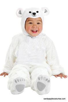 Deluxe Toddler/Child Plush Polar Bear Costume - Candy Apple Costumes - Kids' Deluxe Costumes