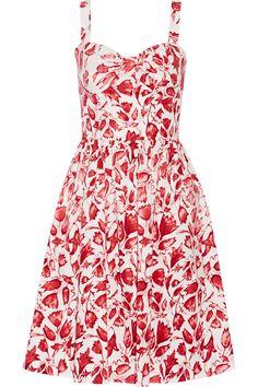 Shop on-sale Oscar de la Renta Printed cotton-blend dress. Browse other discount designer Dresses & more on The Most Fashionable Fashion Outlet, THE OUTNET.COM