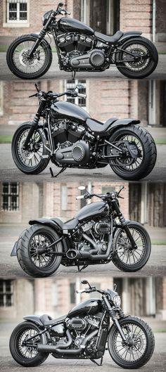 "Thunderbike ""Street Digger"" customized Harley-Davidson Softail Steet Bob 2k18 #harleydavidsonsoftailstreetbob #harleydavidsoncustomsoftail"