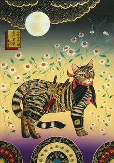 Illustration from Tanaka governance - Ukiyo Ninja Cat