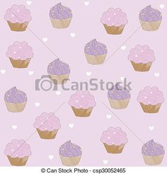 Stock Illustration - Cupcake pattern - stock illustration, royalty free illustrations, stock clip art icon, stock clipart icons, logo, line art, pictures, graphic, graphics, drawing, drawings, artwork