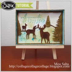 Sizzix Tutorial | Winter Wonderland Shadowbox by Mou Saha